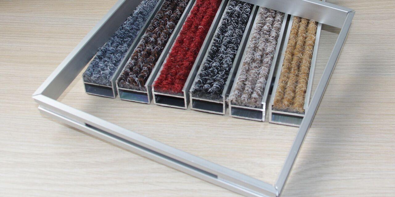 铝合金地垫边框安装示例