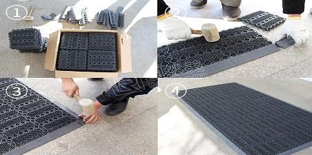 模块地垫的安装流程